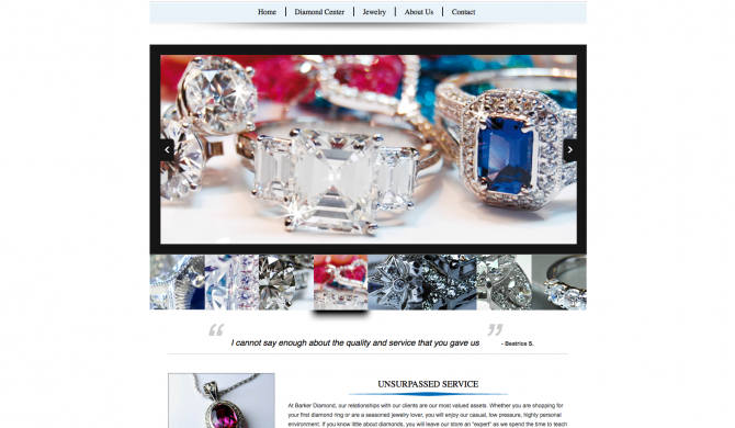 Barker Diamond Web Site