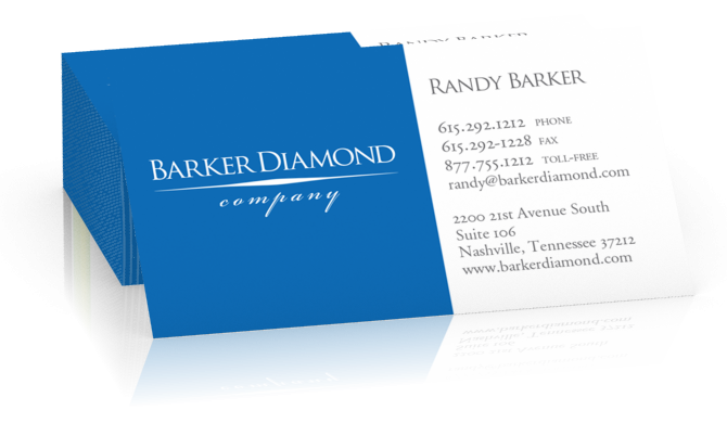 Barker Diamond Business Cards
