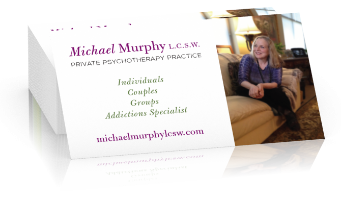 Michael Murphy LCSW Business Cards