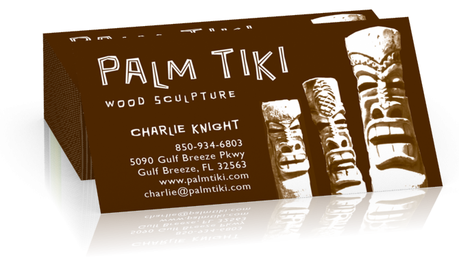 Palm Tiki Business Card
