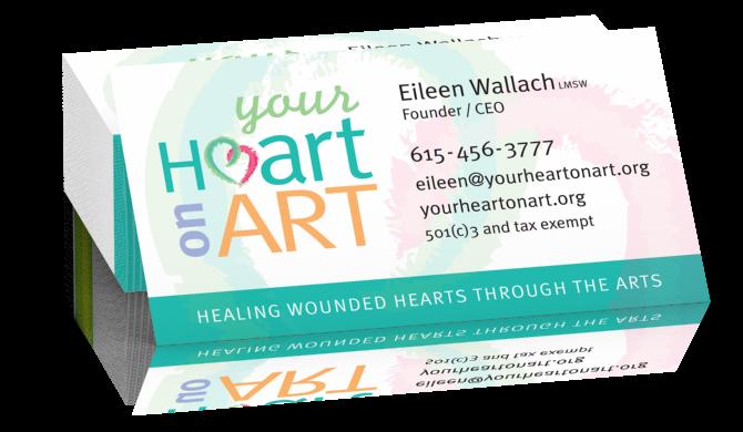 Business cards go design llc your heart on art business cards colourmoves Choice Image