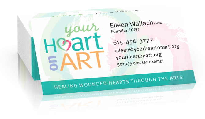 Your heart on art business cards go design llc colourmoves