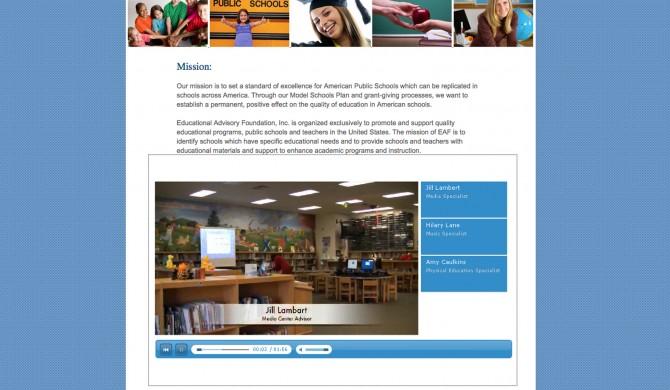 Educational Advisory Foundation Web Site