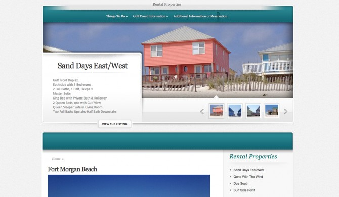 Fort Morgan Rentals Web Site