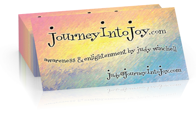 Journey Into Joy Business Cards